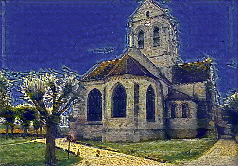 Result: The Church in Auvers-sur-Oise, Nerual Style Transfer