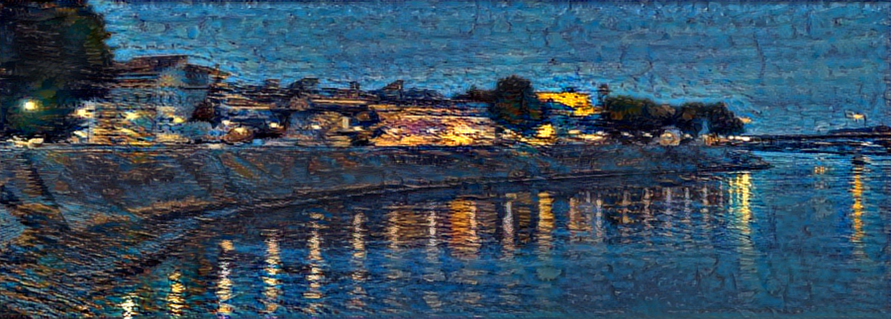 Result: Starry NIght Over Rhone, Neural Style Transfer
