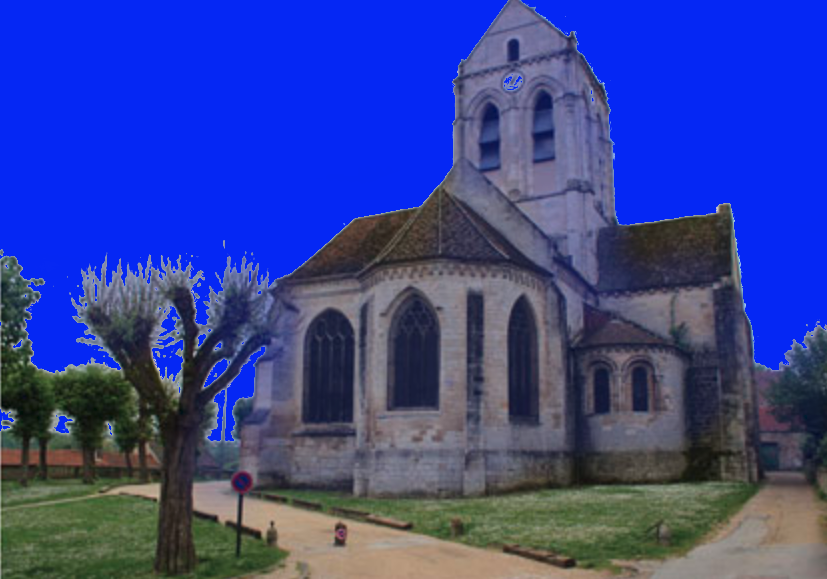 Content Image: Current view of the Church in Auvers-sur-Oise, Photo by Alex Roediger. Fair Use, modified