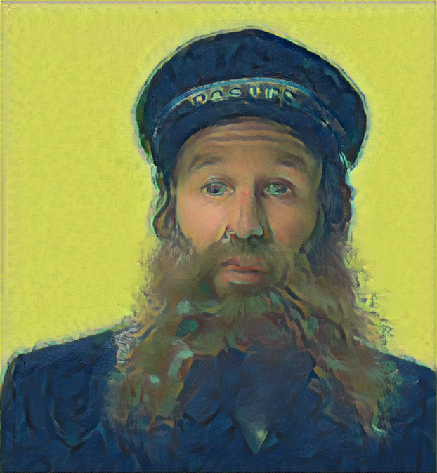 Result: Portrait of Postman Joseph Roulin., Neural Style Transfer.