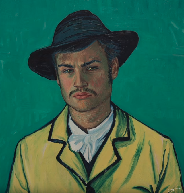 Artist's reinterpretation of Armand Roulin. Copyright © 2013-2019 Loving Vincent (http://lovingvincent.com). Fair Use