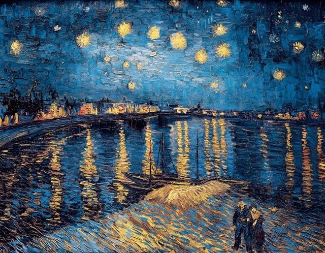 Style Image: Starry Night Over Rhone, Van Gogh