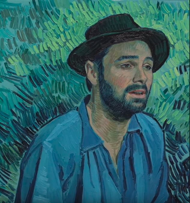 Artist's reinterpretation of The Boatman. Copyright © 2013-2019 Loving Vincent (http://lovingvincent.com). Fair Use