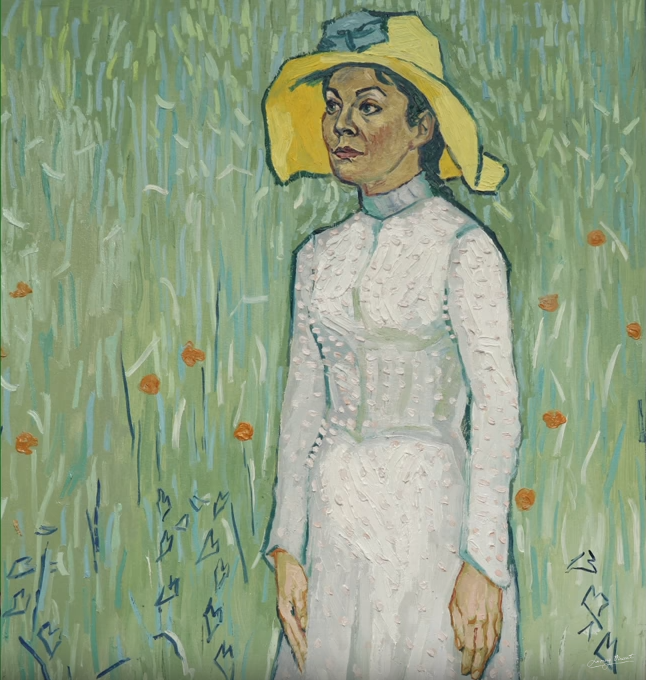 Artists reinterpretation of Girl in White . Copyright © 2013-2019 Loving Vincent (http://lovingvincent.com). Fair Use