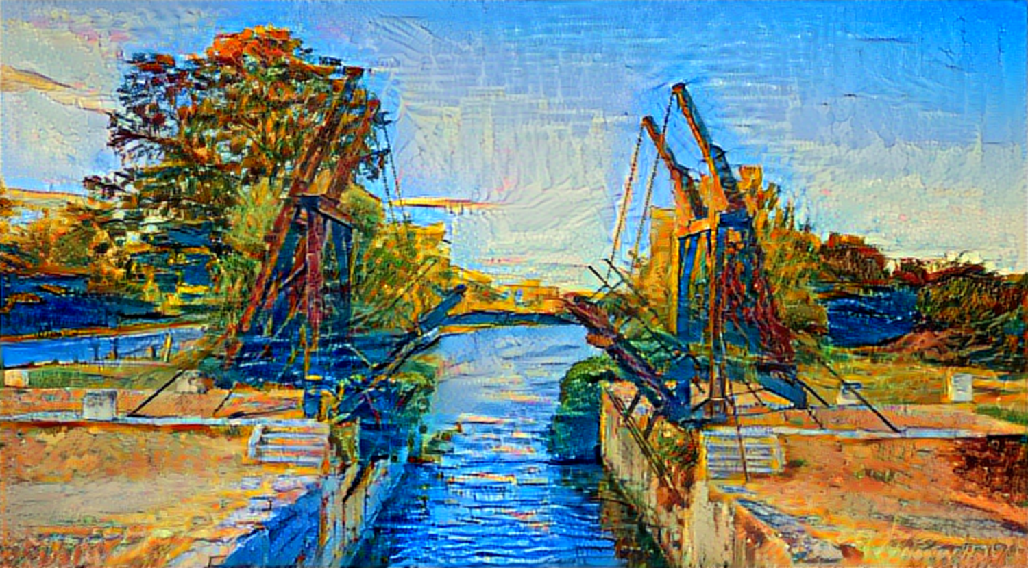 Result: The Langlois Bridge at Arles, Neural Style Transfer