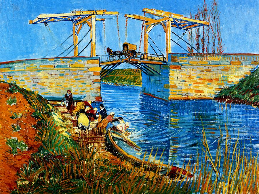 Style Image: The Langlois Bridge at Arles, Van Gogh