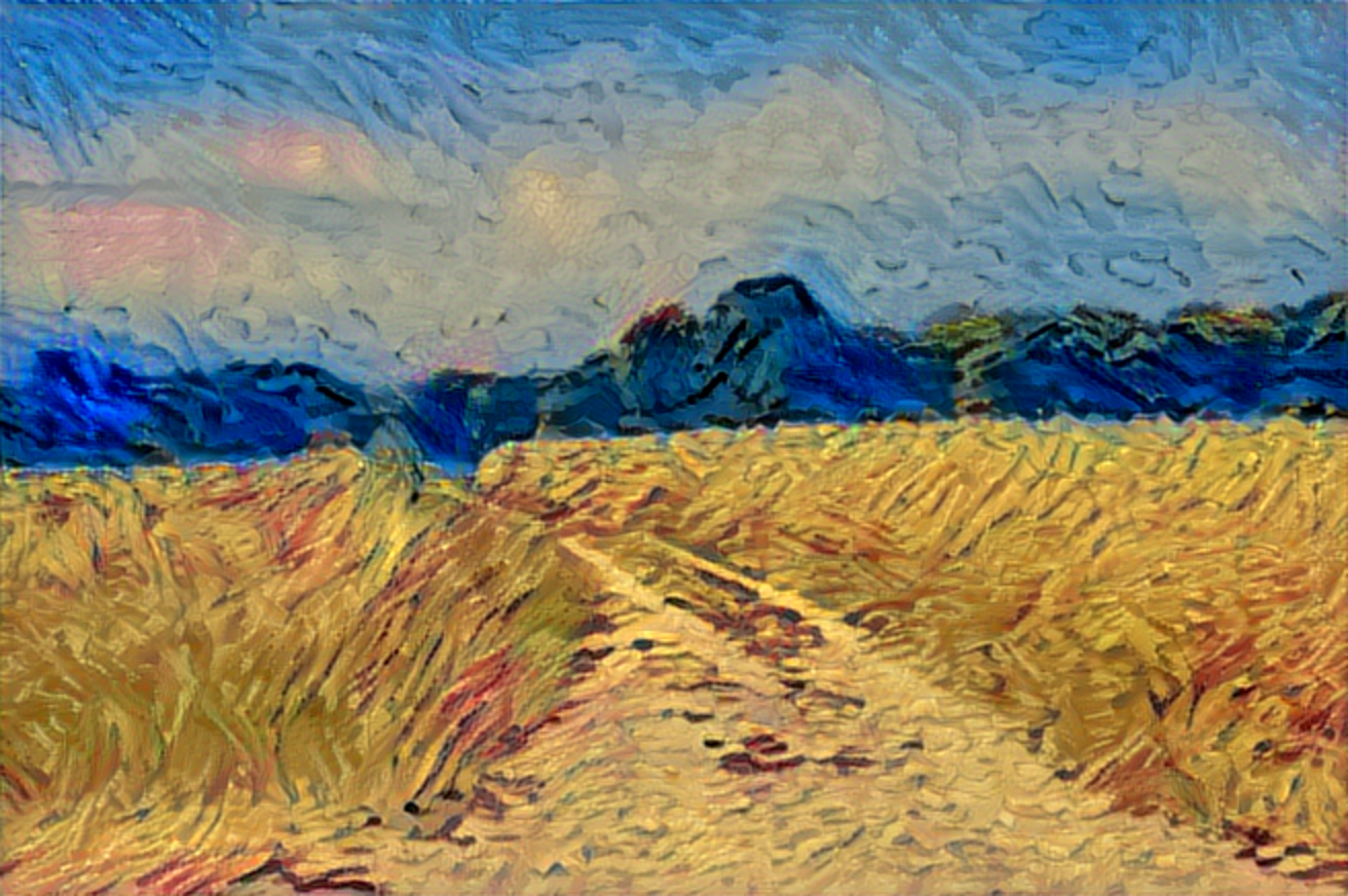 Result: Wheatfield with Crows, Neural Style Transfer