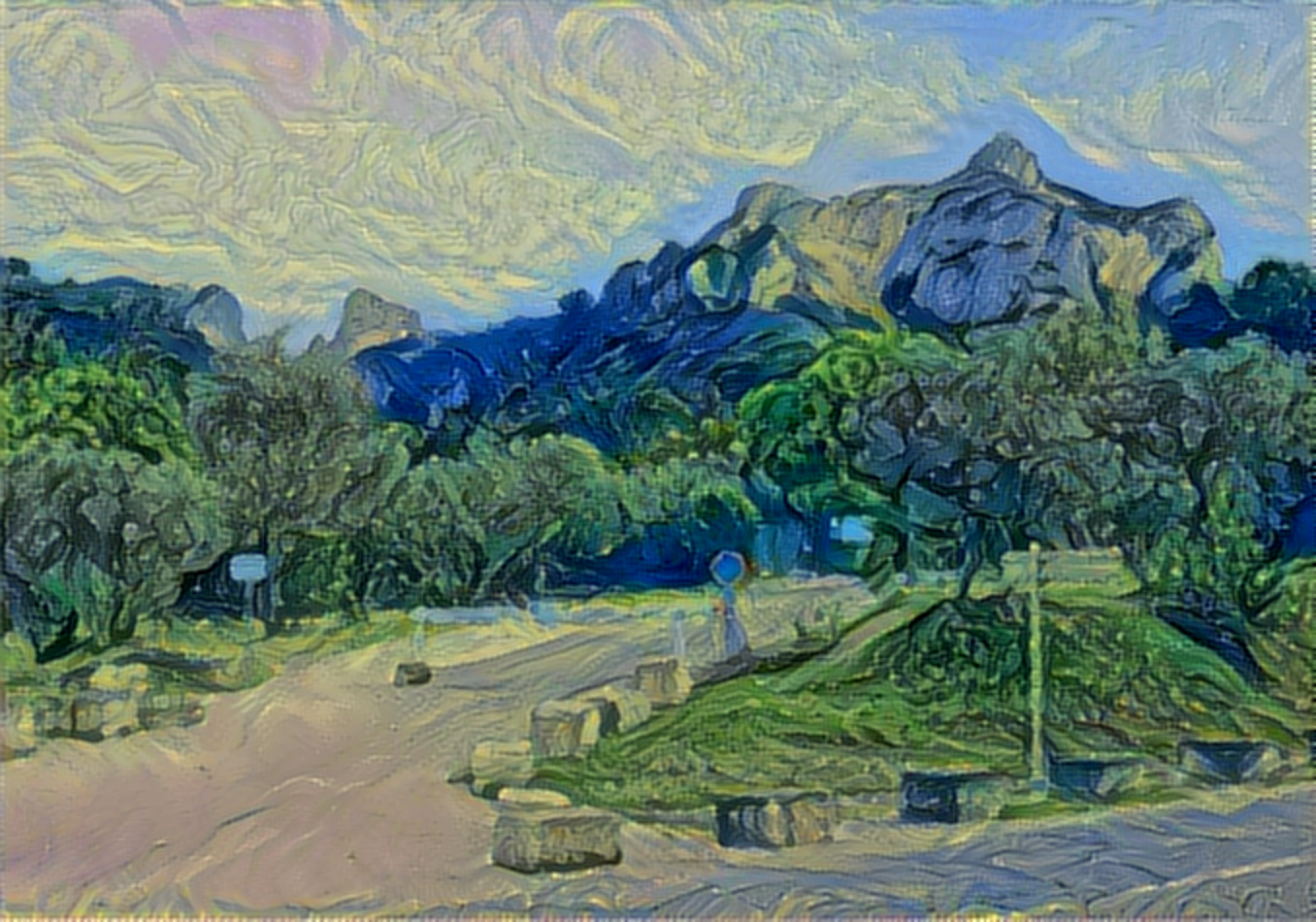 Result: The Olive Trees. Saint Rémy, Neural Style Transfer