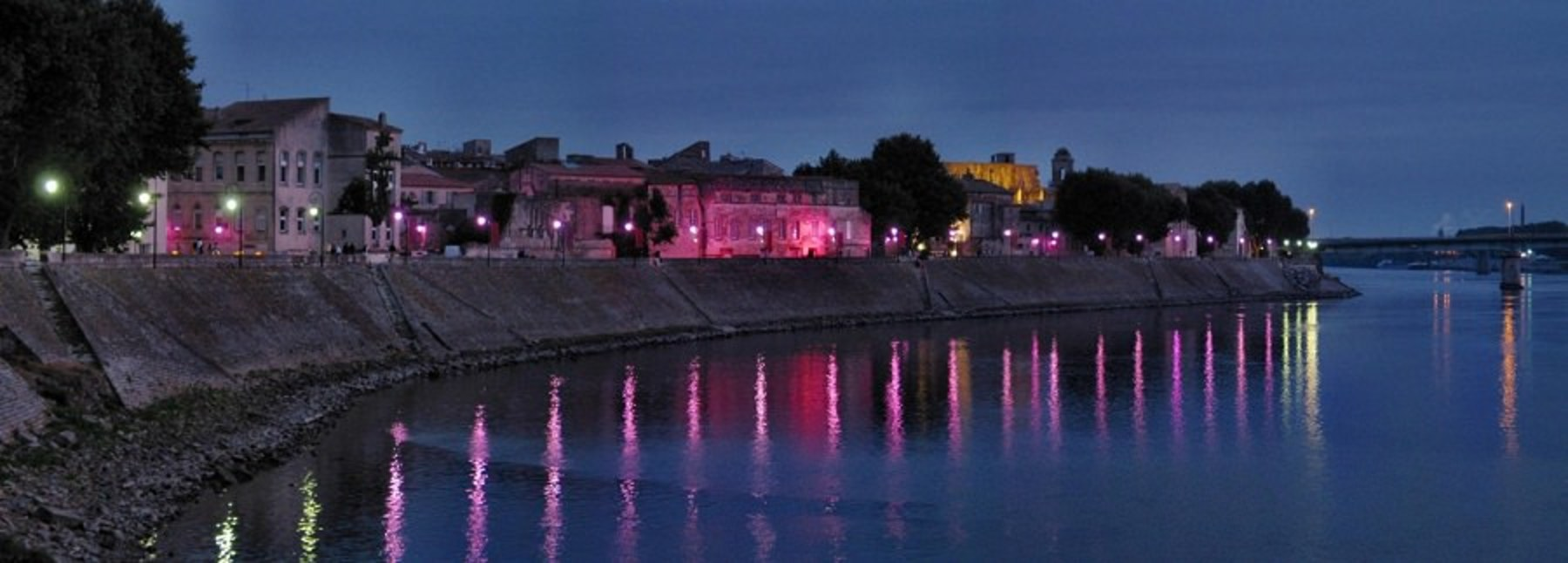 Content Image: Current view of Rhone in Night time. Fair Use