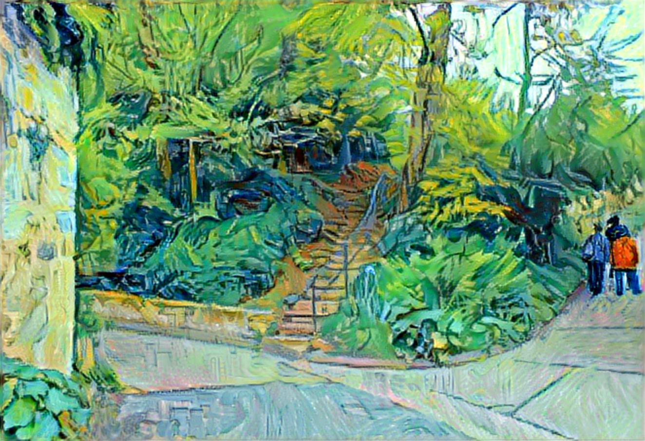 Result: Stairway at Auvers, Neural Style Transfer