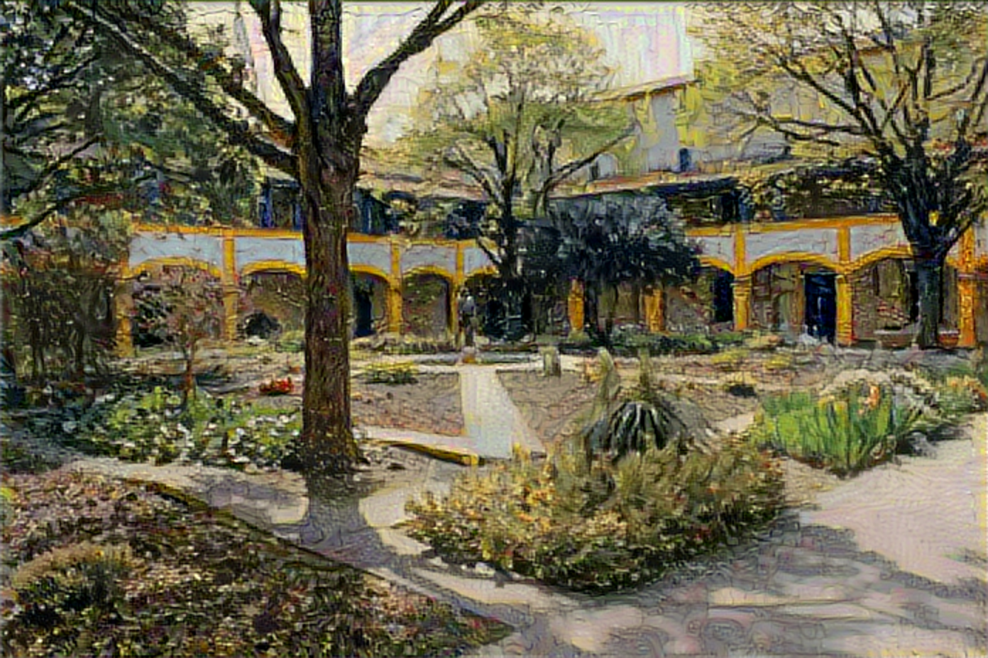 Result: Garden of the Hospital in Arles, Neural Style Transfer