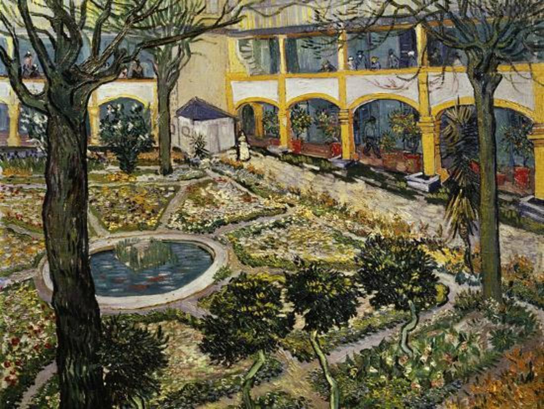 Style Image: Garden of the Hospital in Arles, Van Gogh