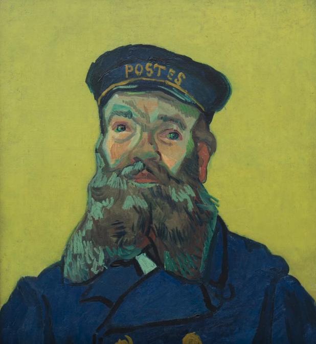 Style Image. Portrait of Postman Joseph Roulin., Van Gogh