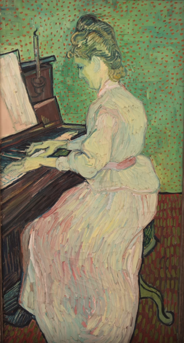Style Image. Marguerite Gachet at the Piano, Van Gogh